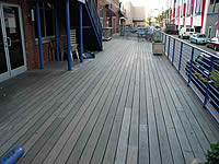 Ipe Decking, completly weathered in a commercial application