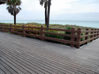 Ipe Decking on a famous Boardwalk